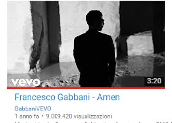 Link al video girato alle Cave di  Francesco Gabbani per la Canzone Amen