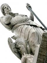 Piazza Alberica - Fontana della Beatrice - Statua di Maria Beatrice D'Este di Pietro Fontana 1827